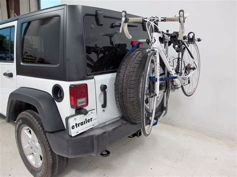 Bike Rack Jeep Wrangler Unlimited Jeep Wrangler Unlimited Thule Spare Me 2 Bike Rack Spare