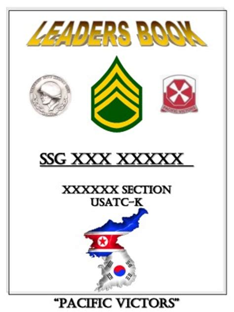 army leaders book cover template
