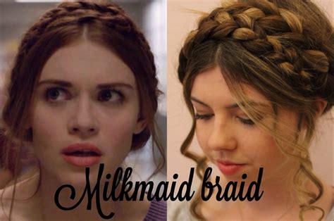 how to do lydia martin hair lydia s milkmaid braid hair tutorial chevelures de f 233 es