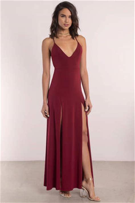 Casandra Maroon maroon dresses burgundy dresses wine colored dresses tobi