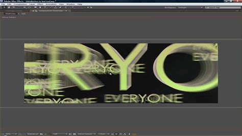 tutorial after effect text animation after effects tutorial title and text animation youtube