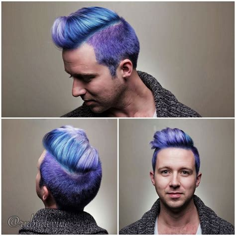 steely gray blue hair color for men 77 best images about dyed hair men on pinterest dyed