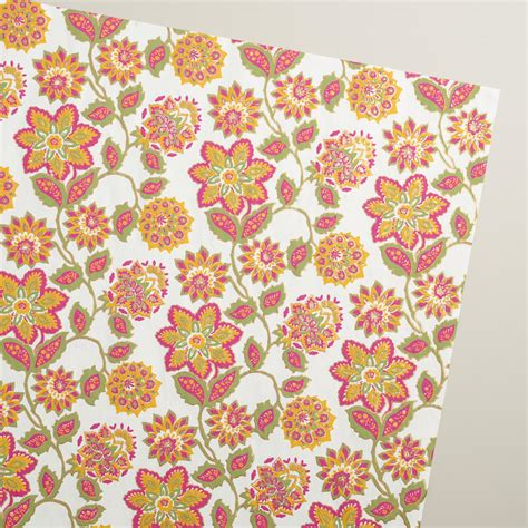 Handmade Wrapping Paper - jaipur floral handmade wrapping paper rolls 3 pack