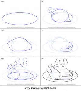 draw cooked chicken printable step step drawing sheet drawingtutorials101