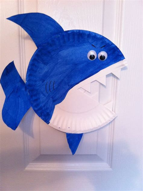 paper plate fish template cool projects for at home and school