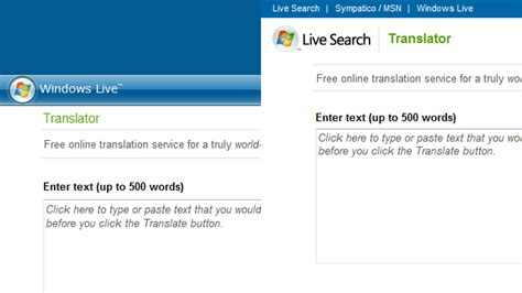 Windows Live Search Windows Live Translator And Live Search Tweaks Still