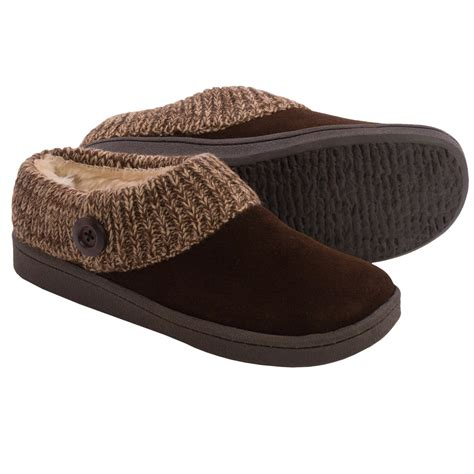 slippers for clarks sweater button clog slippers suede for in