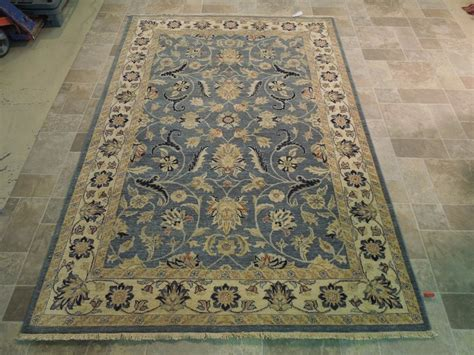 custom made area rugs blue beige vegetable dyed rug handmade 5x8 wool area rug traditional design ebay