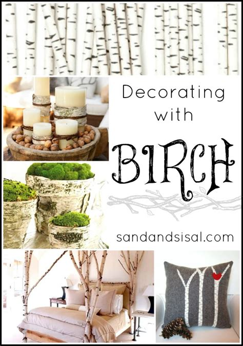 decorating with birch logs decorating with birch sand and sisal