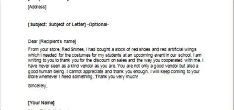 Thank You Letter Vendor Thank You Letter To Someone For Volunteer Work Writeletter2