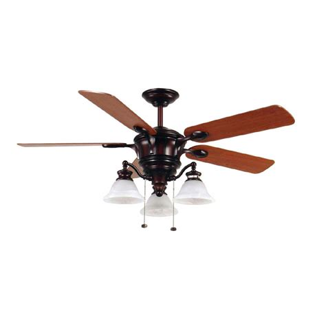 harbor bellhaven ceiling fan shop harbor 52 quot bellhaven rustic bronze ceiling fan