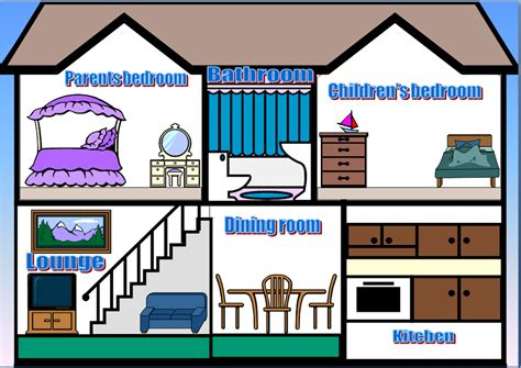 room in a house rooms of the house clipart 35