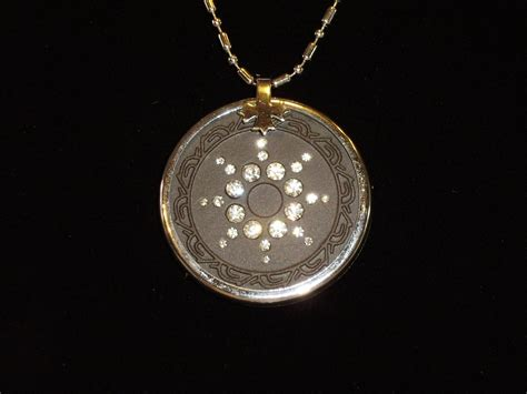 ehm quantum science pendant clear metal ring ebay