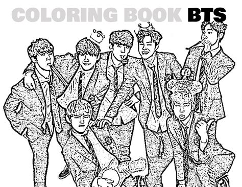 coloring book album free coloring book kpop bts kpoplicious sellfy