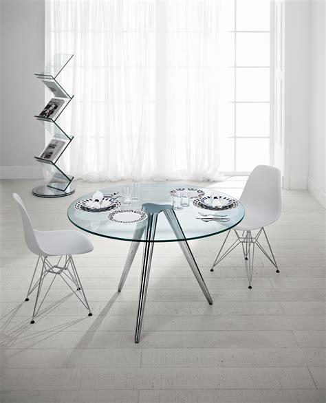 tavoli in vetro rotondi tavolo rotondo in vetro unity by t d tonelli design