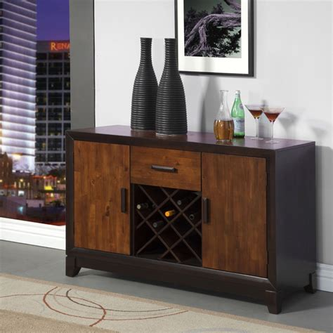 espresso wood contemporary sideboard buffet server console furniture of america isa acacia and espresso server with