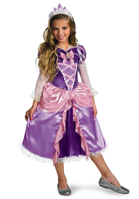 deluxe girls tangled rapunzel costume