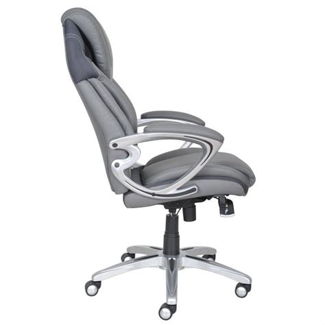 gray leather executive office chair air executive office chair grey bonded leather 43807