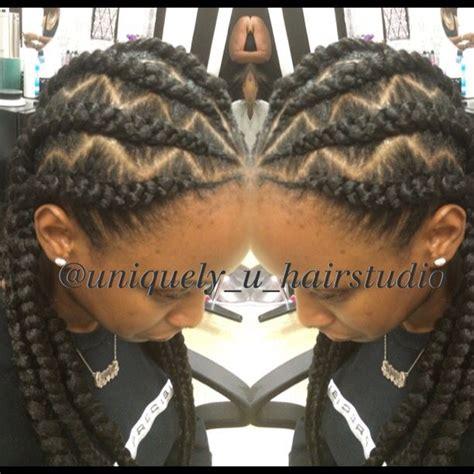 nigeria zigzag braiding jumbo cornrows goddess braids natural hair braid