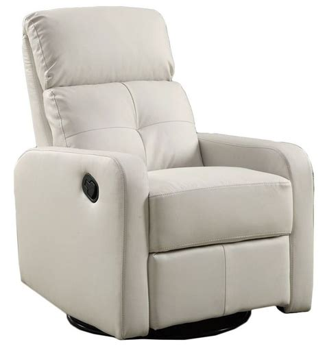 swivel glider recliner leather white bonded leather swivel glider recliner from monarch