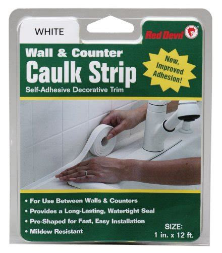 Bathtub Caulking Strips by 0155 Caulk Wall And Counter White 7 8