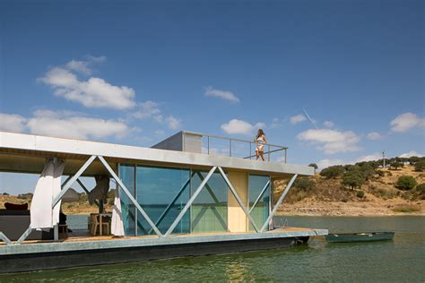 prefabricated floating house can be shipped worldwide this floating home was designed to fit into two shipping