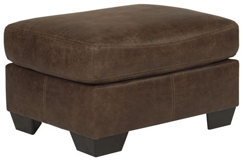 faux leather chair and ottoman signature design by ashley bladen 1200014 casual faux