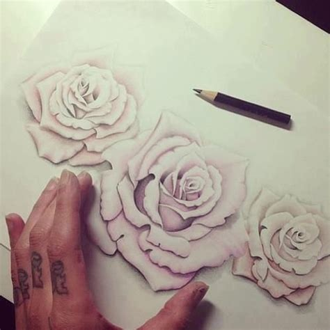 i love roses that use negative space no hard outline