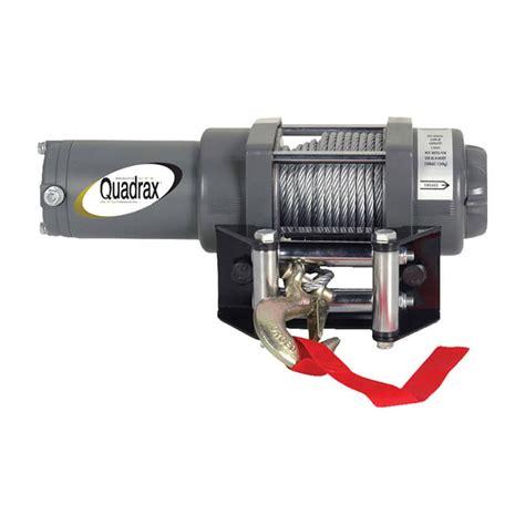 Winch 2600lbs quadrax 174 2500lbs atv winch quadrax utility