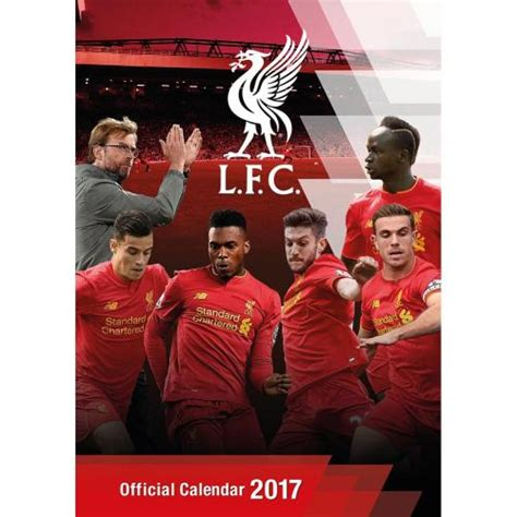 liverpool official 2017 calendar liverpool f c calendar 2017 for only 163 11 10 at merchandisingplaza uk