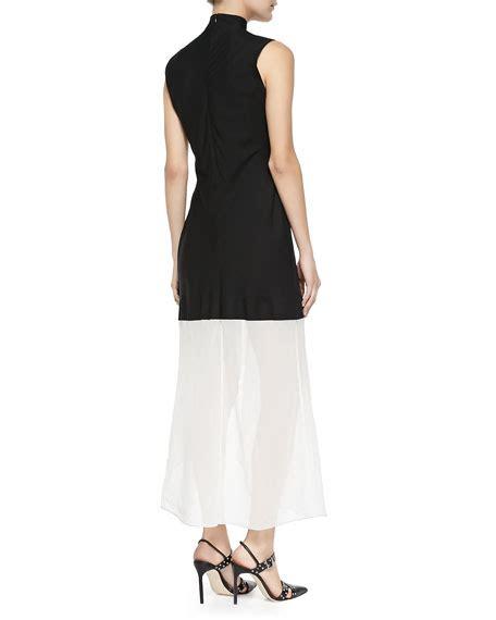2 Tone Asymetric Dress theory dexas two tone asymmetric dress