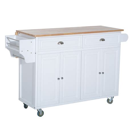drop leaf kitchen island cart homcom 36 deluxe modern drop leaf kitchen island rolling