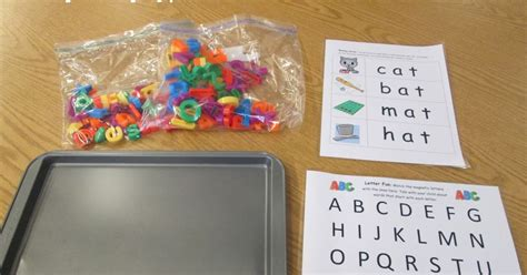 Simple Tip Use Two Cookie Sheets by Ms At The Library Cookie Sheet Magnetic Letters