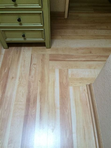 laminate flooring in hallway changing direction west