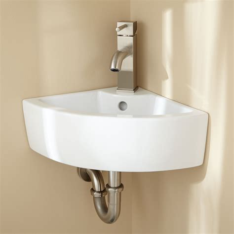 bathroom sink hardware signature hardware amelda porcelain wall mount corner
