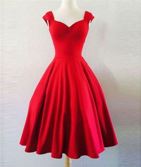 custom  simple red sweetheart short prom dress