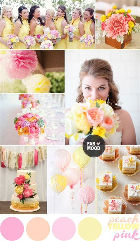 pink yellow wedding colour palette pink yellow wedding colours