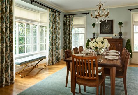 Dining Room Drapery Ideas Astonishing Bay Window Treatments Decorating Ideas Images In Dining Room Traditional Design Ideas