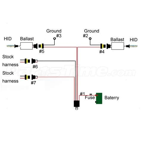 1x Xenon Hid Conversion Relay Harness Wire Kit For