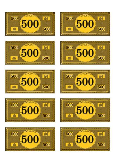 monopoly money templates monopoly money 500 ra money and monopoly
