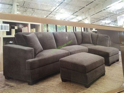 bainbridge fabric sectional with ottoman bainbridge 3pc fabric sectional with ottoman model