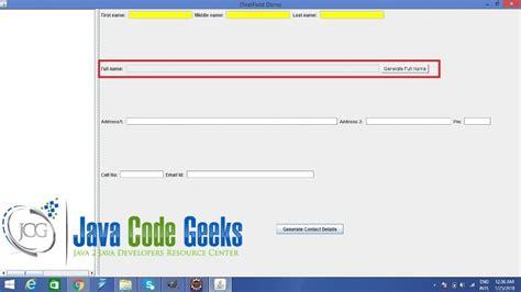 jtextfield in java swing java swing jtextfield exle exles java code geeks
