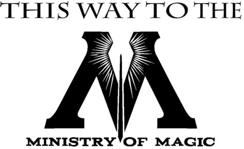 This Way To The Ministry Of Magic Printable by a ministry of magic printable