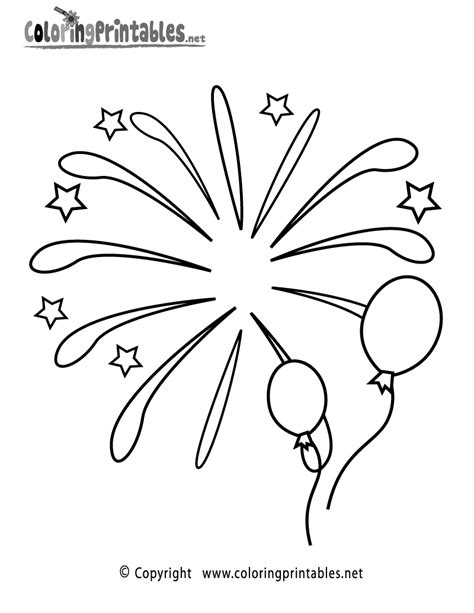 fireworks coloring page a free holiday coloring printable