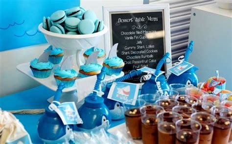 baby shark themed party sharks birthday party ideas photo 3 of 22 catch my party