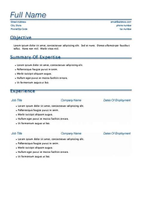 download resume templates for free template resume