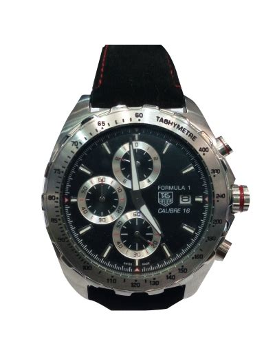 Tagheuer Formula1 Monaco Silver Black Leather buy suits and accessories fashion designs for