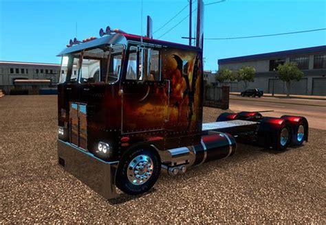 ats peterbilt  truck dragon fire skin simulator games mods
