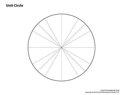 blank unit circle tims printables