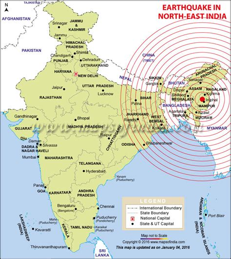 Outline The Causes Of Earthquakes Scheme by Areas Affected By Earthquake In India Bihar West Bengal Assam Map In News